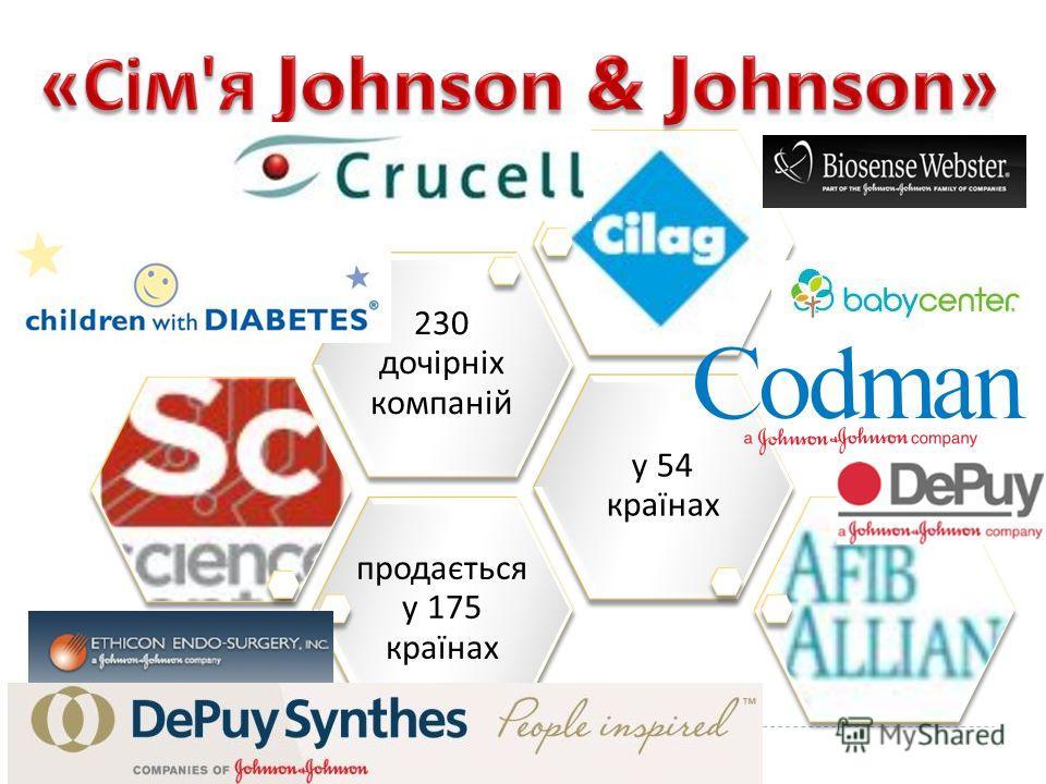 продається у 175 країнах у 54 країнах 230 дочірніх компаній