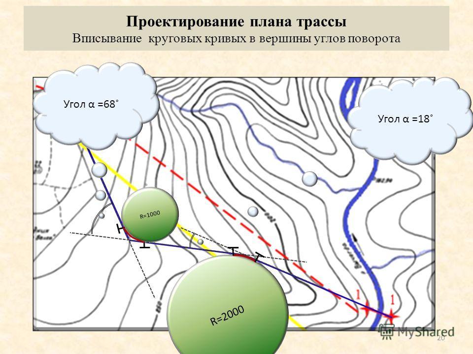 Спрямление элементов циркульного хода 19