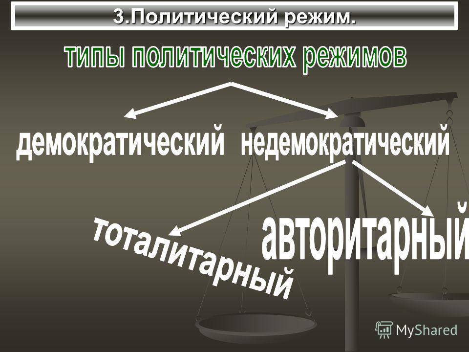 3. Политический режим.