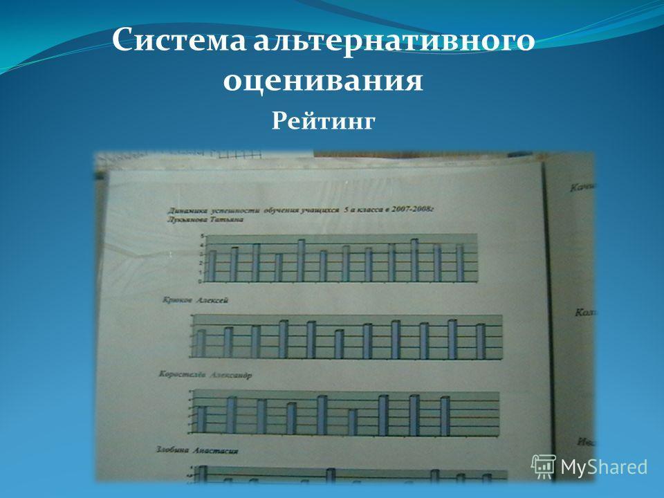 Система альтернативного оценивания Рейтинг