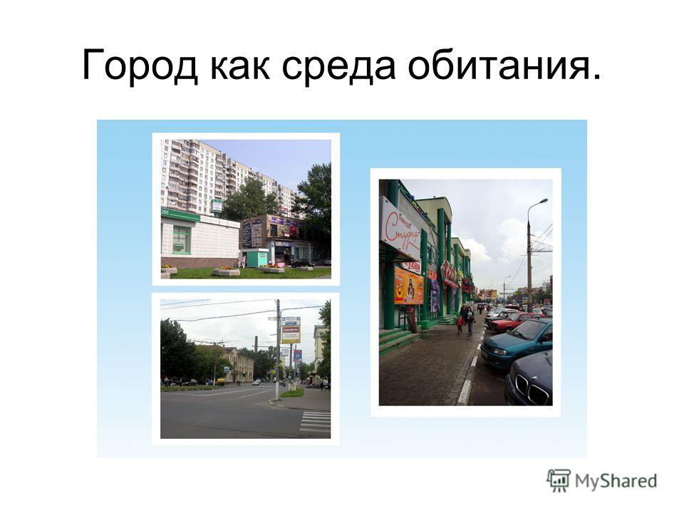 Город как среда обитания.