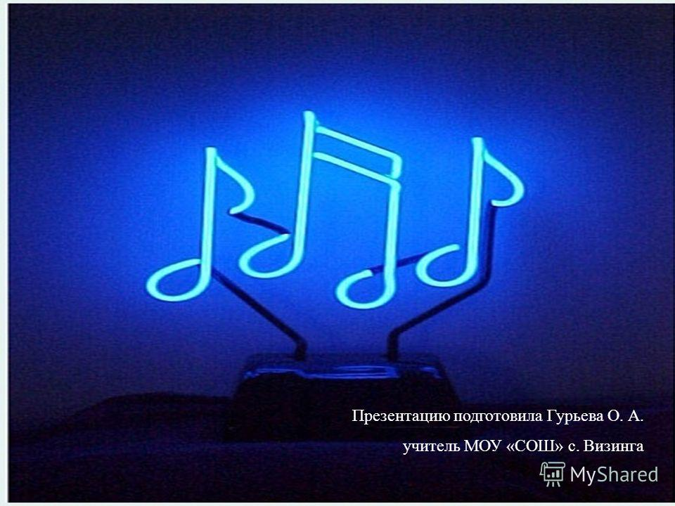 Презентацию подготовила Гурьева О. А. учитель МОУ «СОШ» с. Визинга