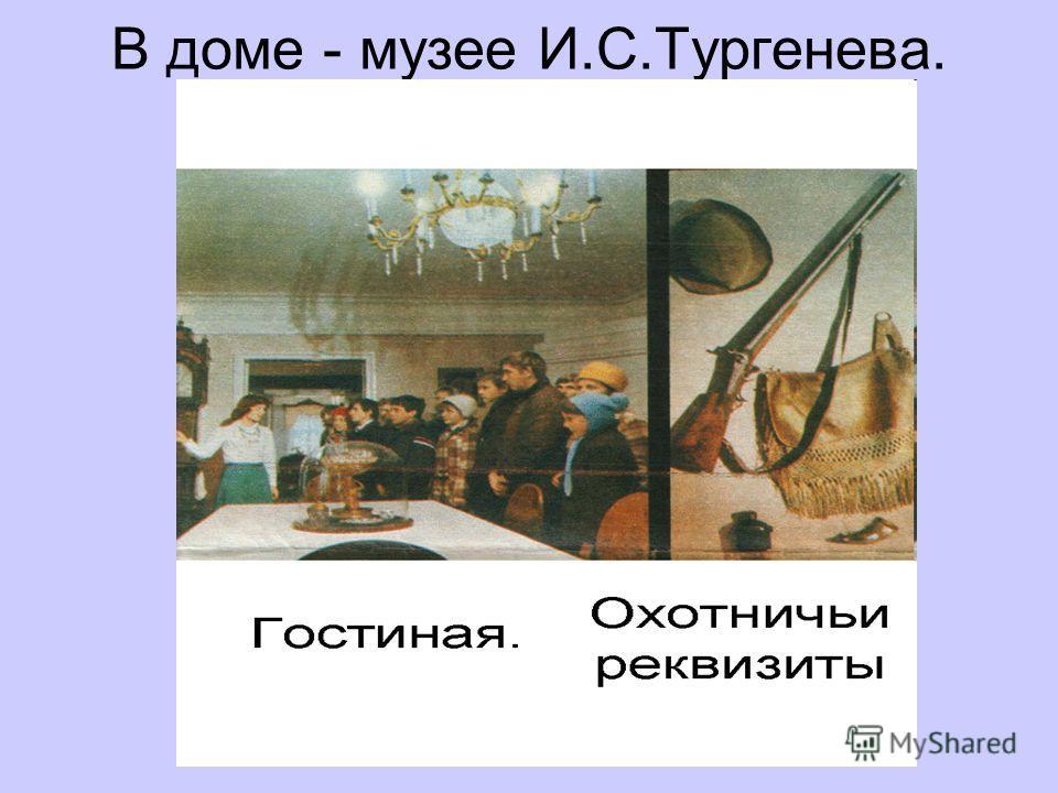 В доме - музее И.С.Тургенева.