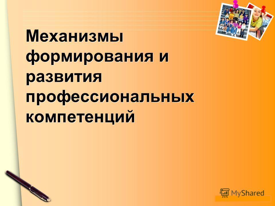 www.themegallery.com Механизмы формирования и развития профессиональных компетенций