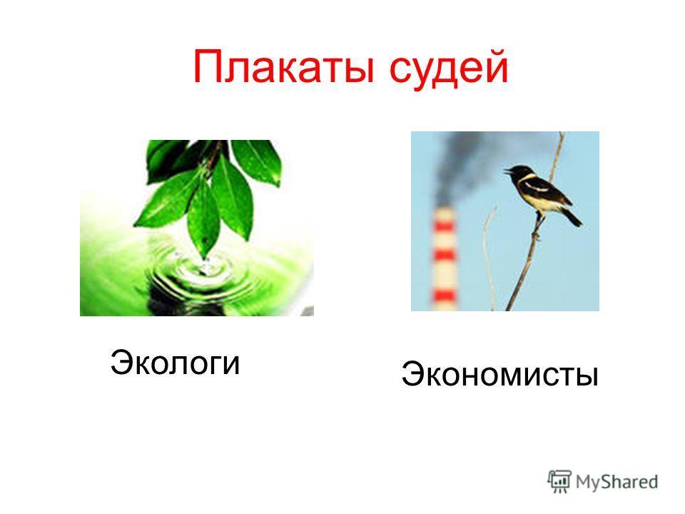 Экологи Экономисты Плакаты судей