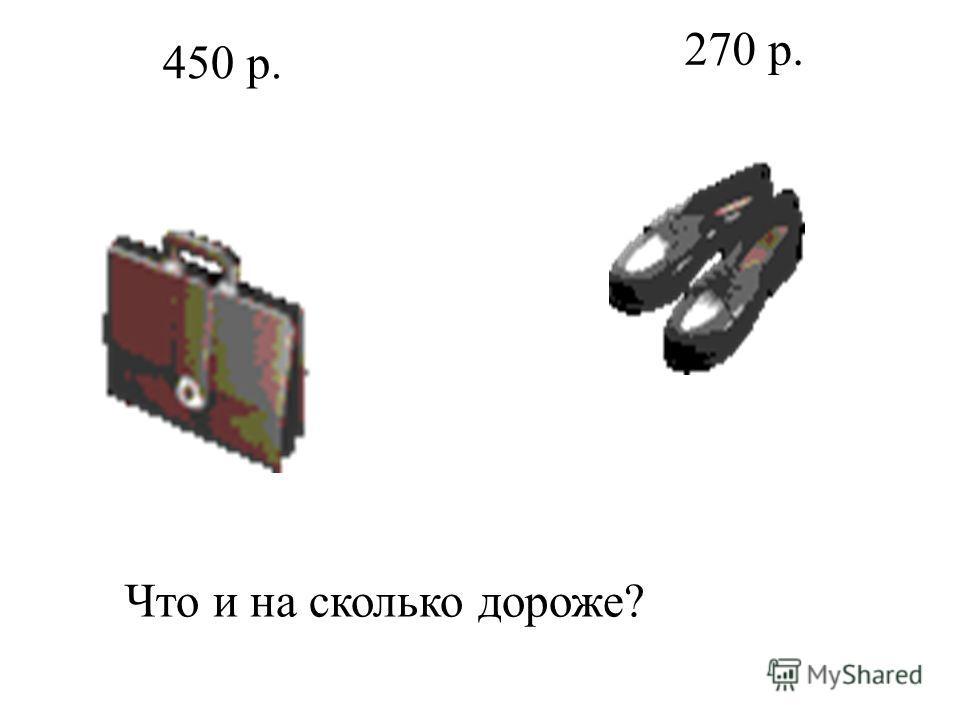 Что и на сколько дороже? 450 р. 270 р.