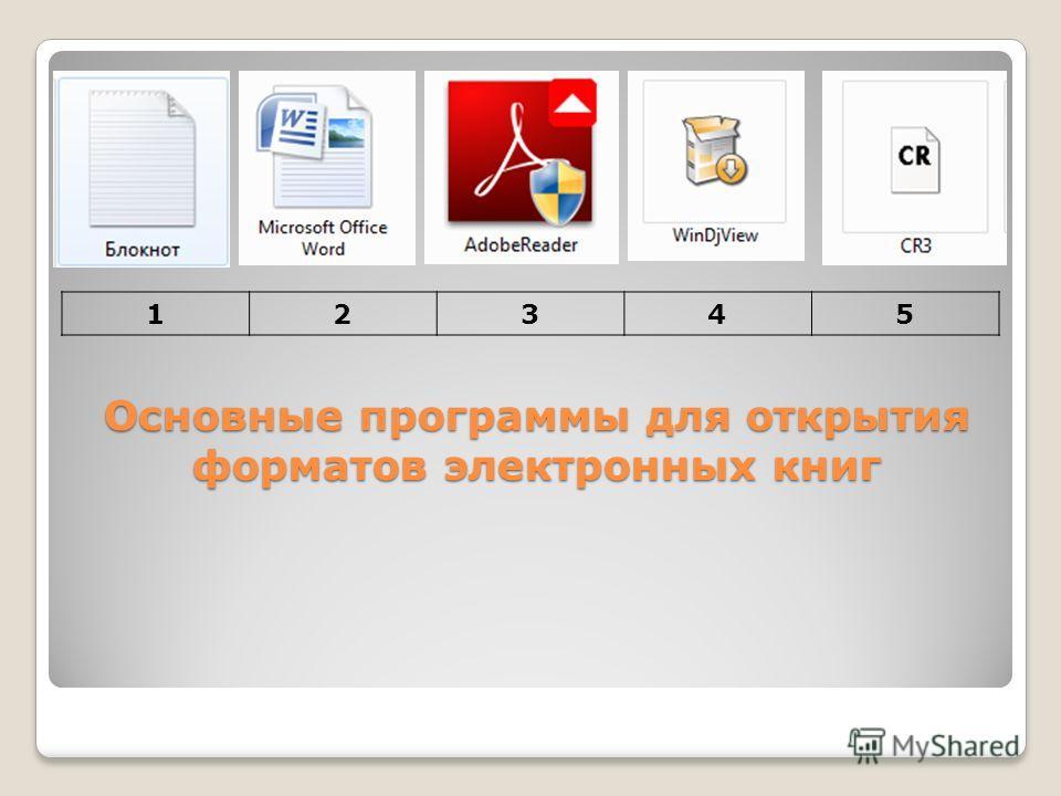 программы для открытия книг