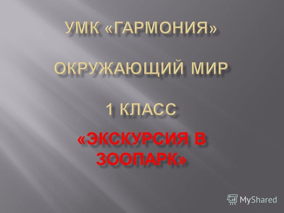 « ЭКСКУРСИЯ В ЗООПАРК »