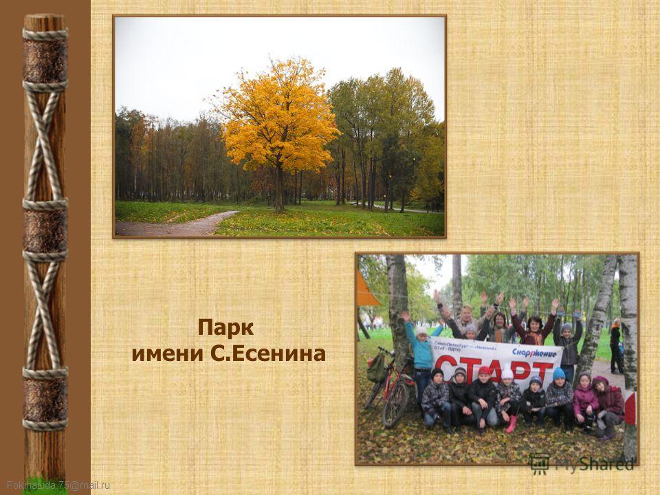 FokinaLida.75@mail.ru Парк имени С.Есенина