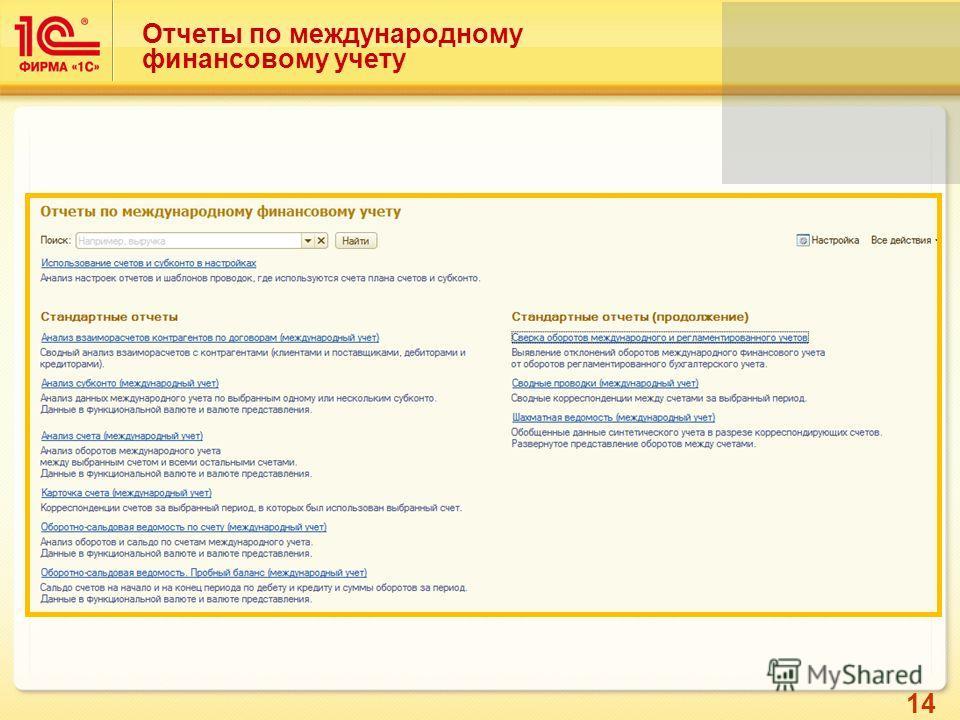 14 Отчеты по международному финансовому учету