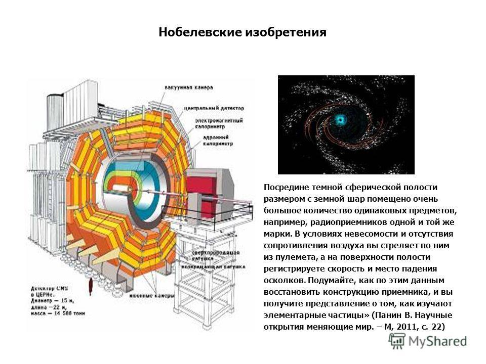 Нобелевские изобретения Посредине темной сферической полости размером с земной шар помещено очень большое количество одинаковых предметов, например, радиоприемников одной и той же марки. В условиях невесомости и отсутствия сопротивления воздуха вы ст