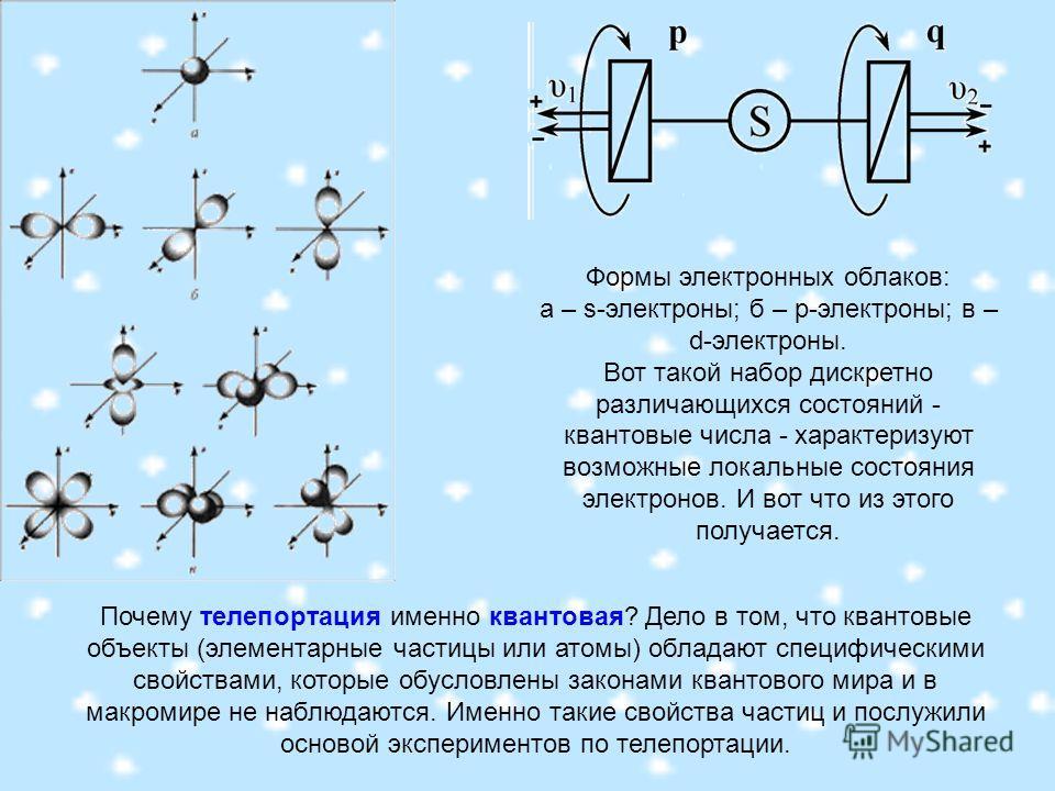 Почему телепортация именно квантовая? Дело в том, что квантовые объекты (элементарные частицы или атомы) обладают специфическими свойствами, которые обусловлены законами квантового мира и в макромире не наблюдаются. Именно такие свойства частиц и пос