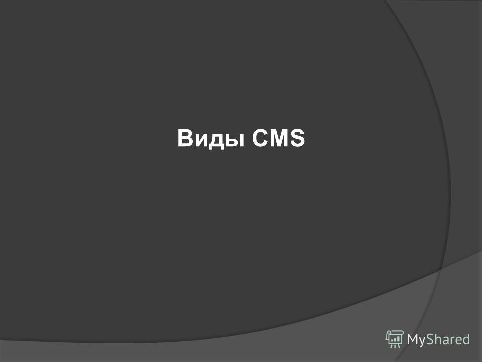 Виды CMS