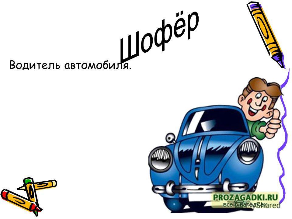 Водитель автомобиля.