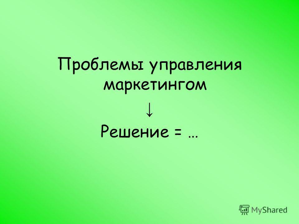 Решение = …