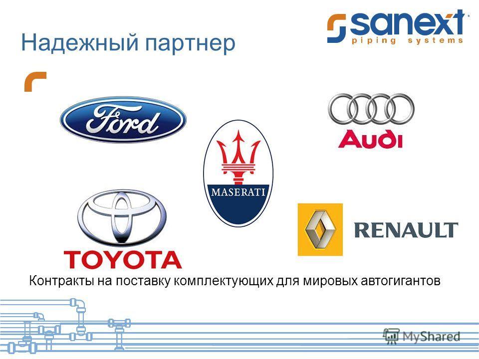 Надежный партнер Контракты на поставку комплектующих для мировых автогигантов