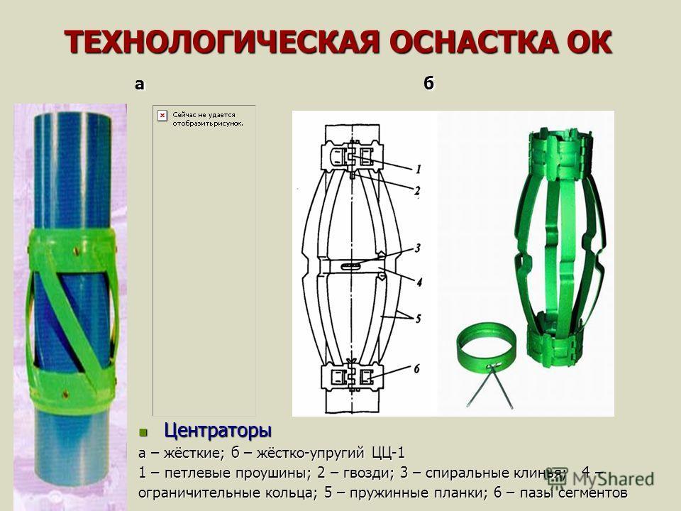 ТЕХНОЛОГИЧЕСКАЯ ОСНАСТКА ОК а б ТЕХНОЛОГИЧЕСКАЯ ОСНАСТКА ОК а б Центраторы Центраторы а – жёсткие; б – жёстко-упругий ЦЦ-1 1 – петлевые проушины; 2 – гвозди; 3 – спиральные клинья; 4 – ограничительные кольца; 5 – пружинные планки; 6 – пазы сегментов