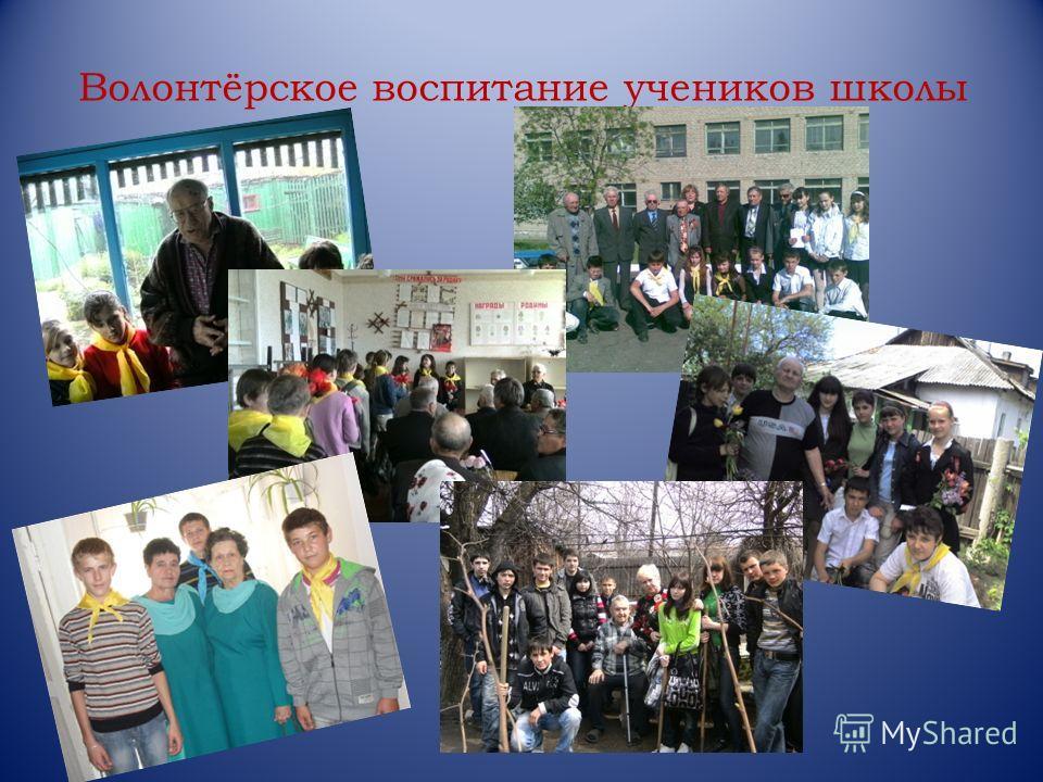 Волонтёрское воспитание учеников школы