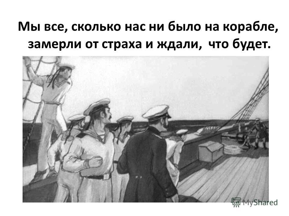 Мы все, сколько нас ни было на корабле, замерли от страха и ждали, что будет.