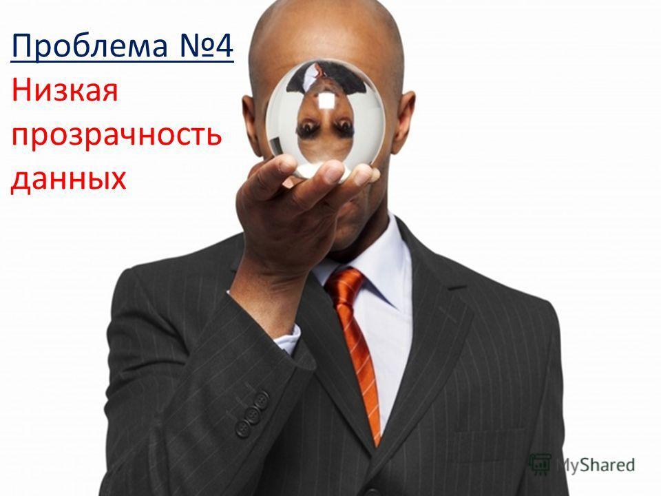 6 Проблема 4 Низкая прозрачность данных