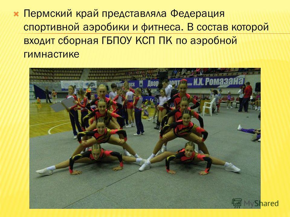 Пермский край представляла Федерация спортивной аэробики и фитнеса. В состав которой входит сборная ГБПОУ КСП ПК по аэробной гимнастике