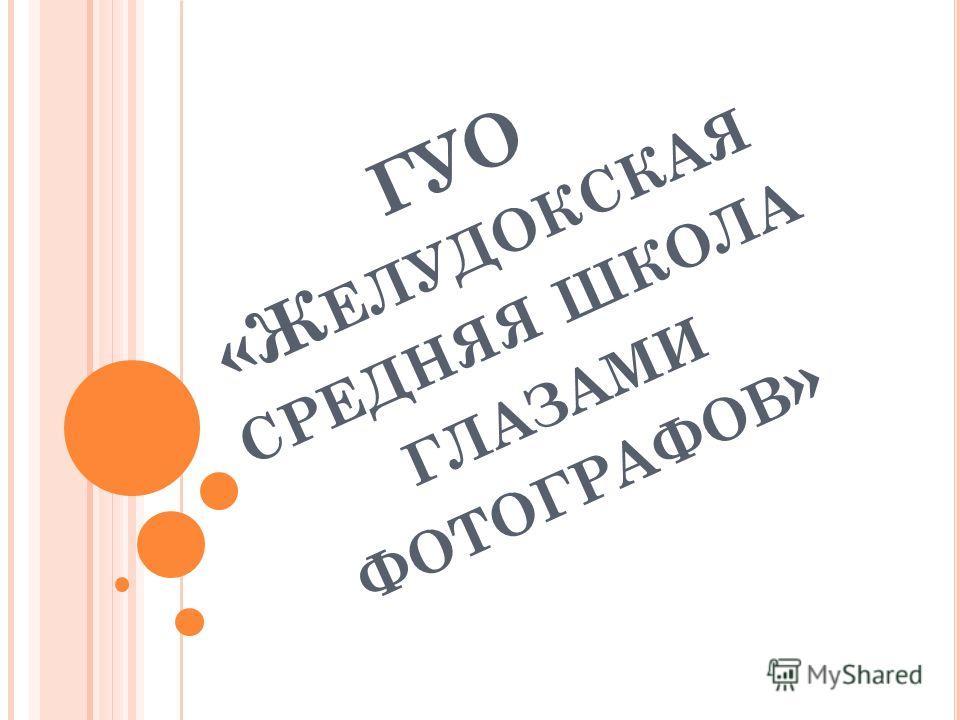 ГУО «Ж ЕЛУДОКСКАЯ СРЕДНЯЯ ШКОЛА ГЛАЗАМИ ФОТОГРАФОВ »