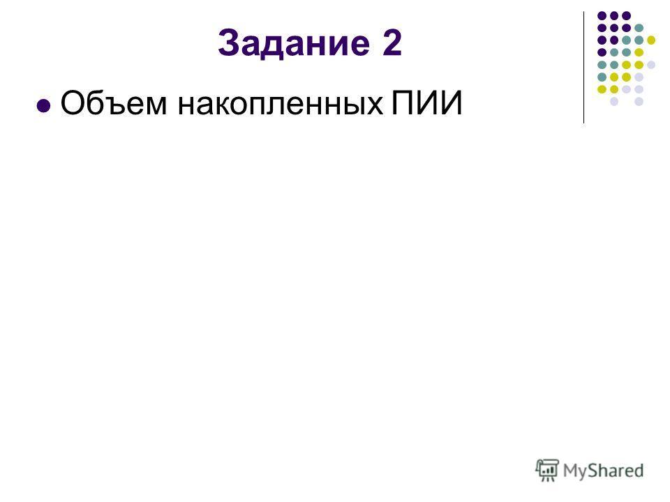 Задание 2 Объем накопленных ПИИ
