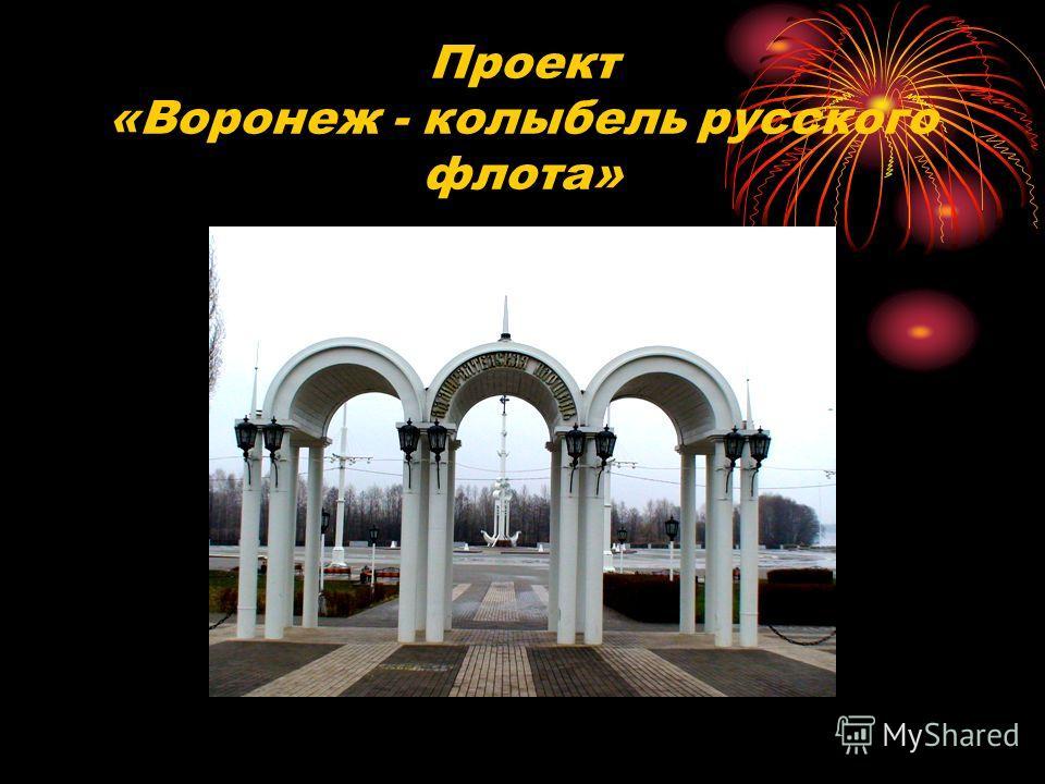 Проект «Воронеж - колыбель русского флота»