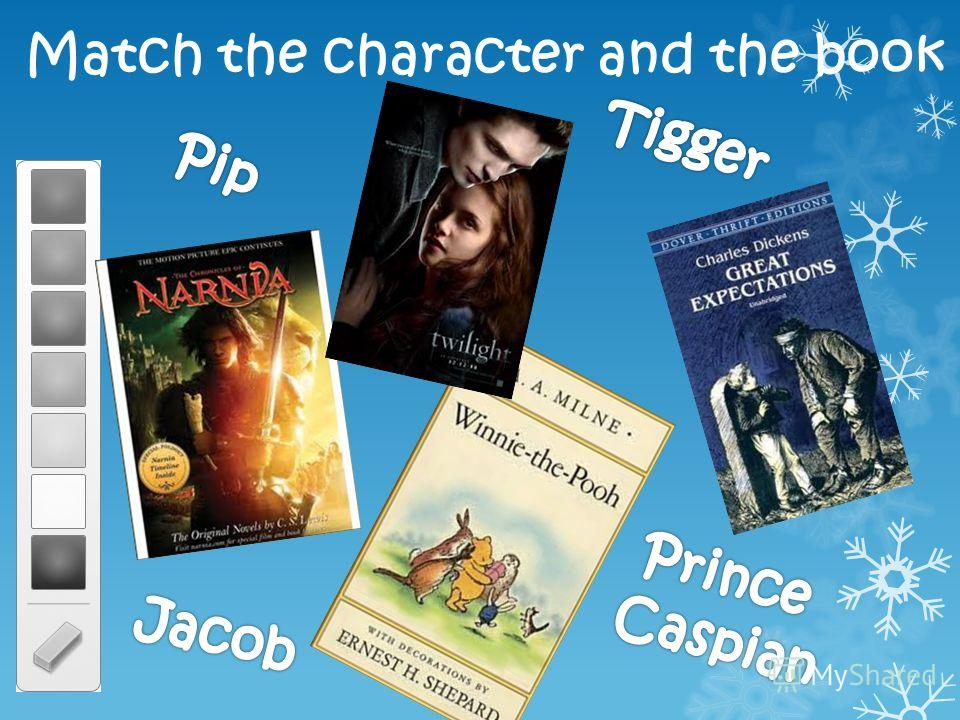 Match the character and the book