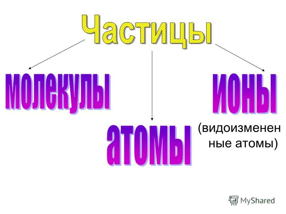 (видоизмененные атомы)