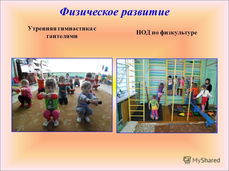 Физическое развитие Утренняя гимнастика с гантелями НОД по физкультуре
