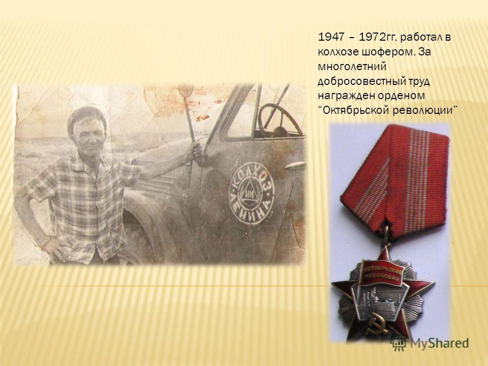 В 1947 году Лобакин Г.П. вернулся в свой родной хутор Лобакин.
