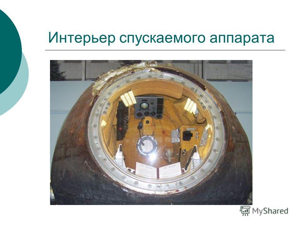 Интерьер спускаемого аппарата