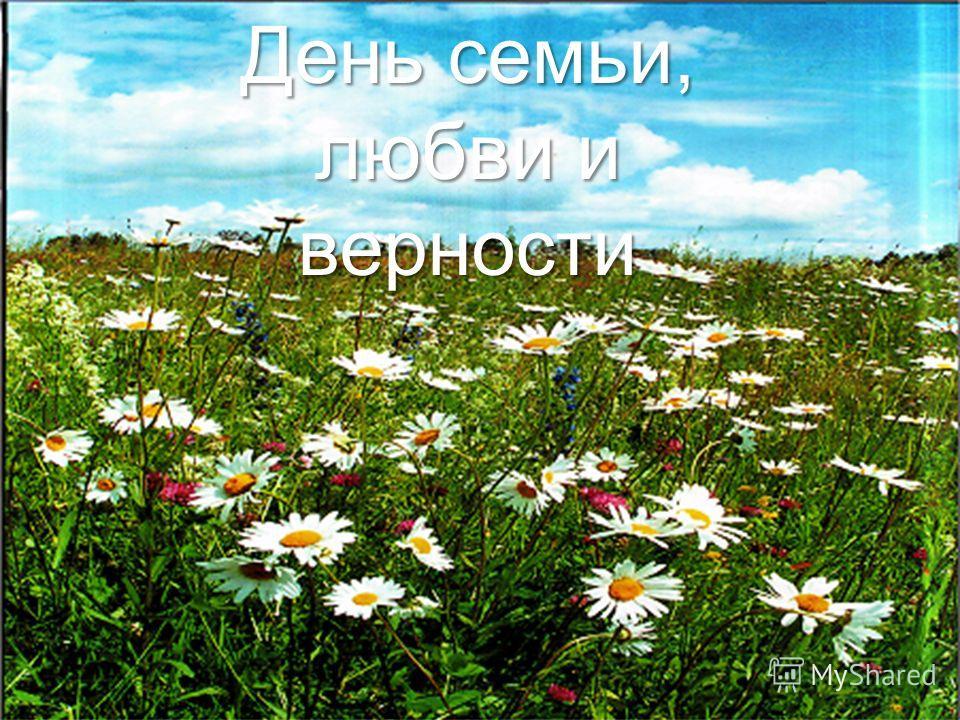 8 июля – Всероссийский день Семьи, Любви и Верности День семьи, любви и верности