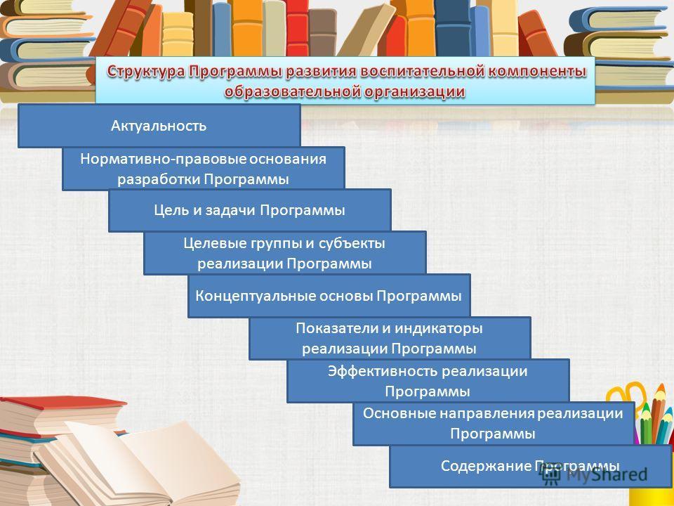 Актуальность Нормативно-правовые основания разработки Программы Цель и задачи Программы Целевые группы и субъекты реализации Программы Показатели и индикаторы реализации Программы Концептуальные основы Программы Эффективность реализации Программы Осн