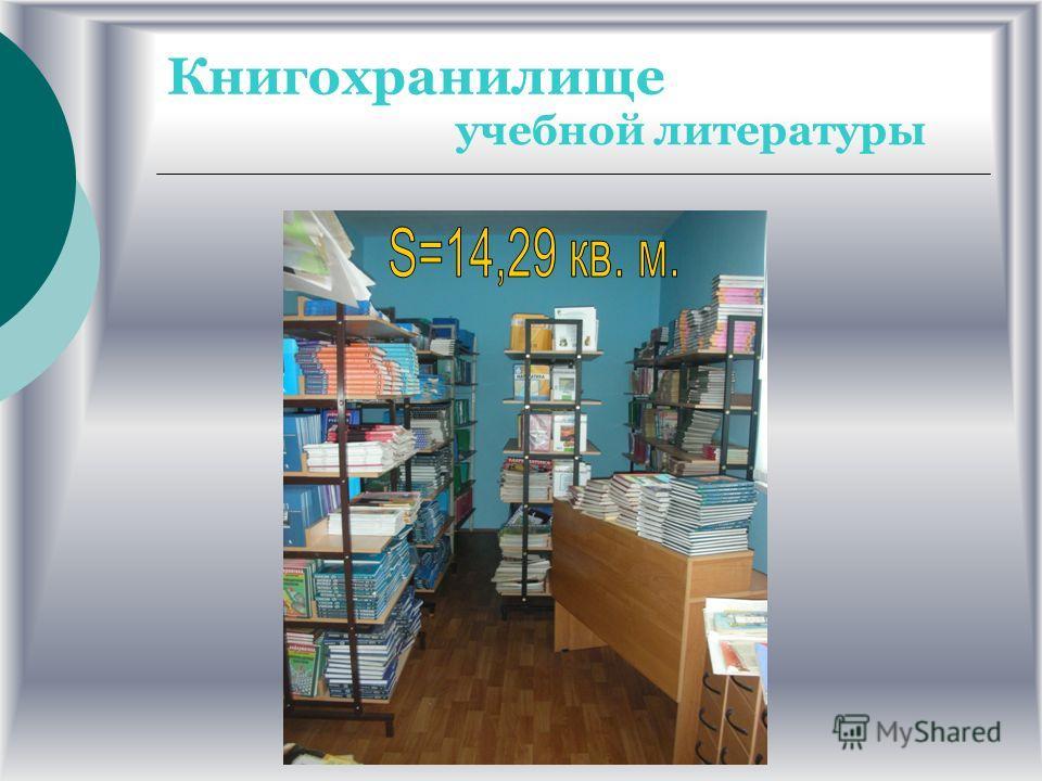КНИГОХРАНИЛИЩЕ художественной литературы художественной литературы S=26,84 кв. м.