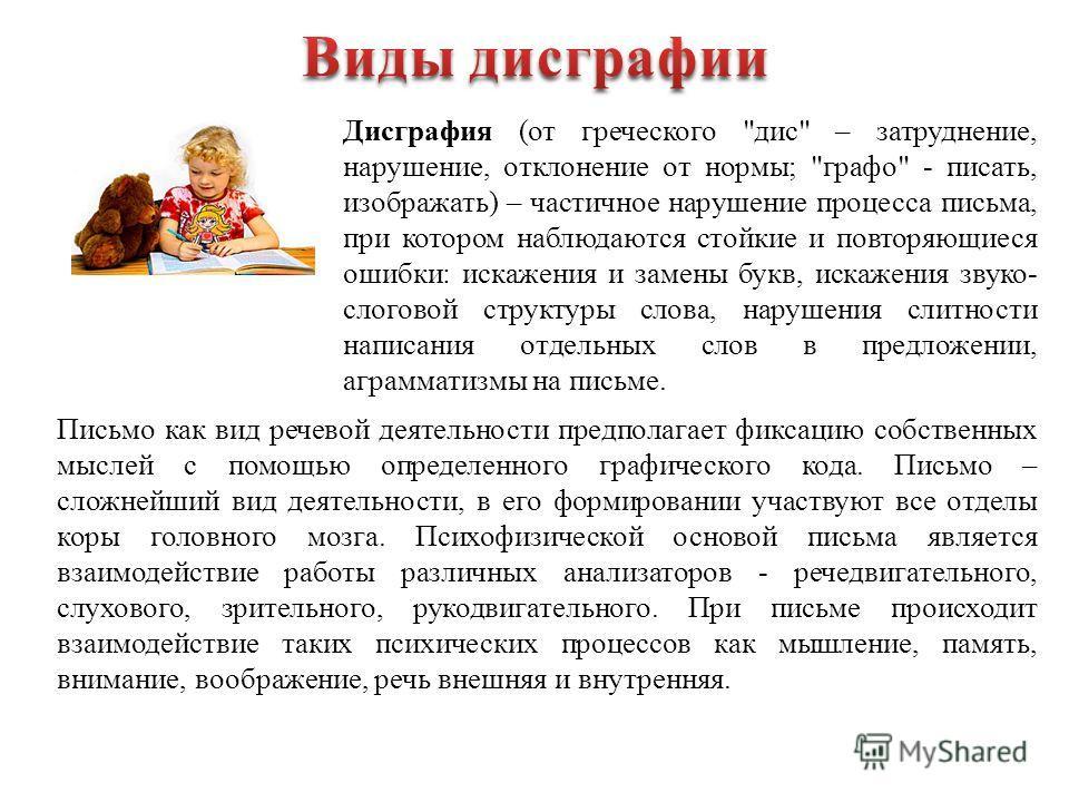 Дисграфия (от греческого