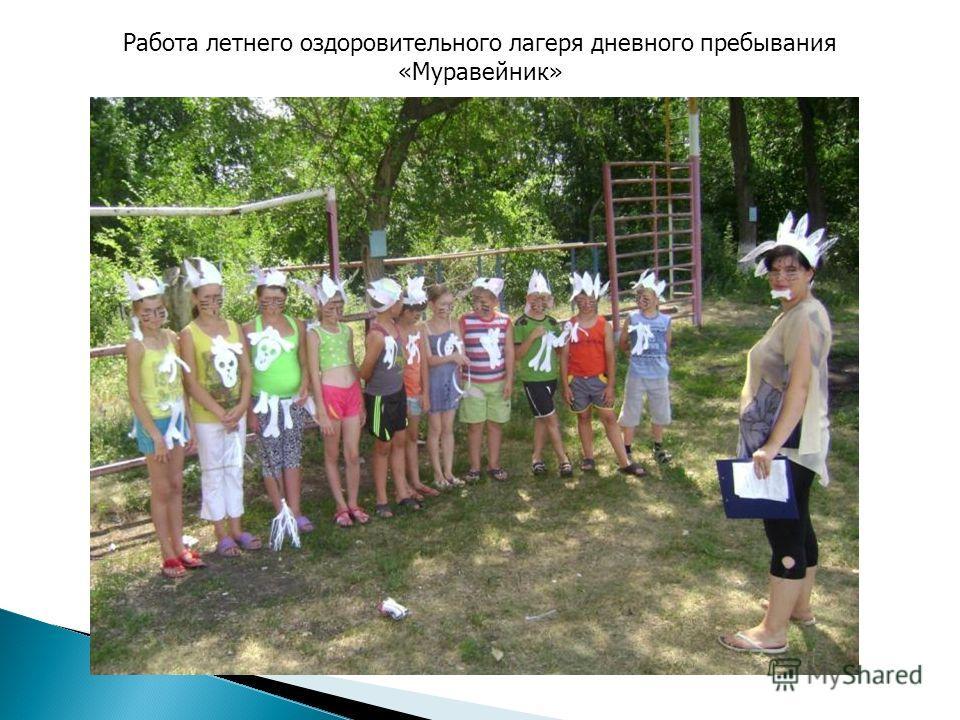 Работа летнего оздоровительного лагеря дневного пребывания «Муравейник»