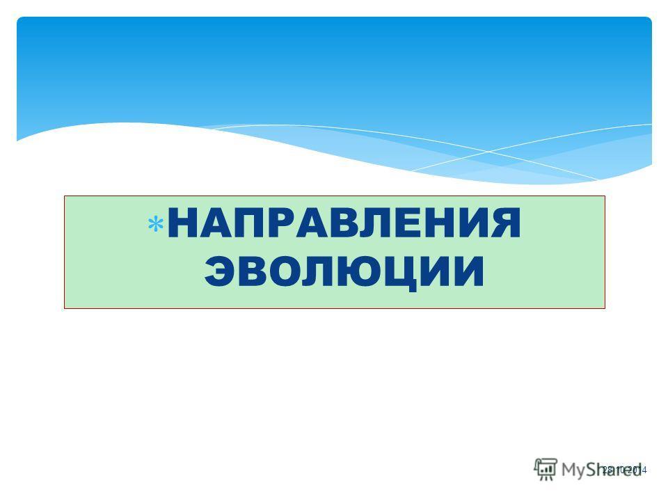 НАПРАВЛЕНИЯ ЭВОЛЮЦИИ 28.10.2014
