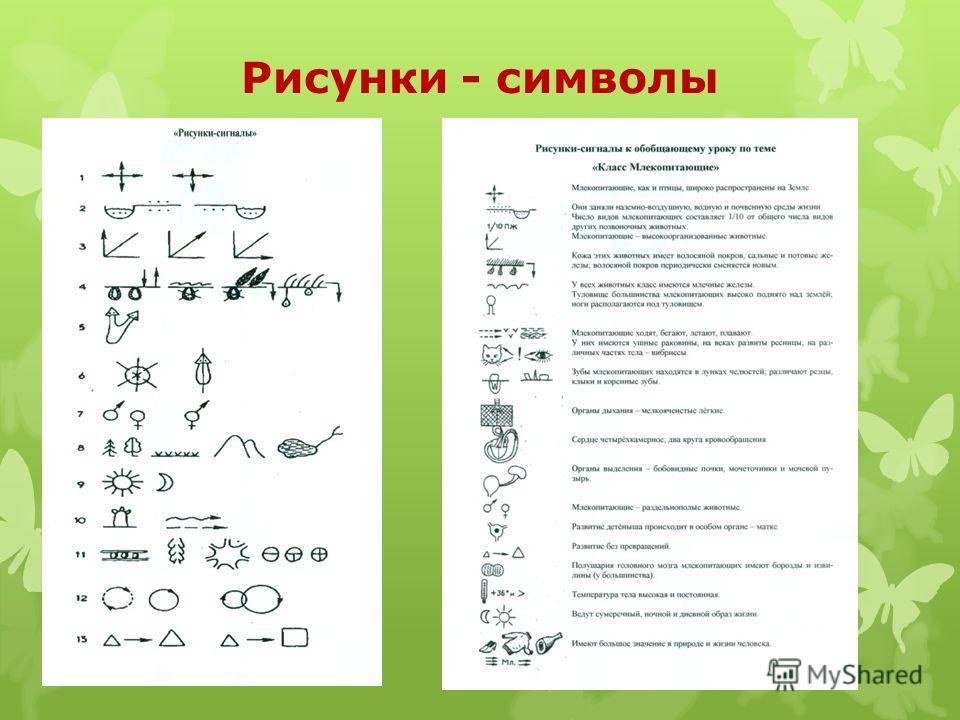 Рисунки - символы