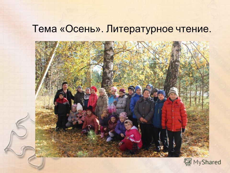 Тема «Осень». Литературное чтение.