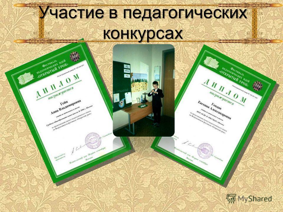 Участие в педагогических конкурсах