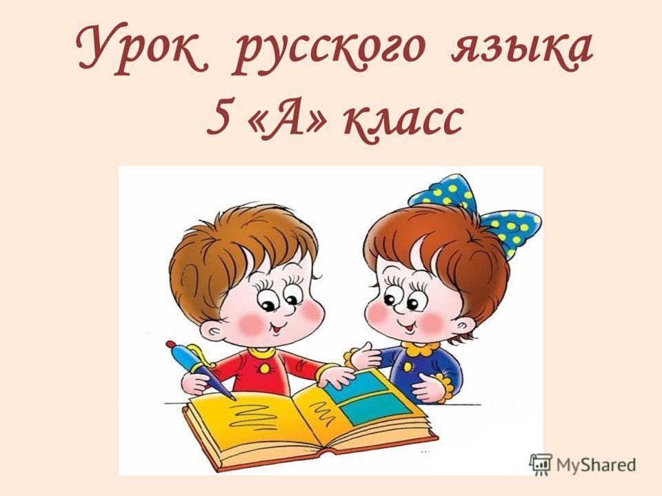 Урок русского языка 5 «A» класс