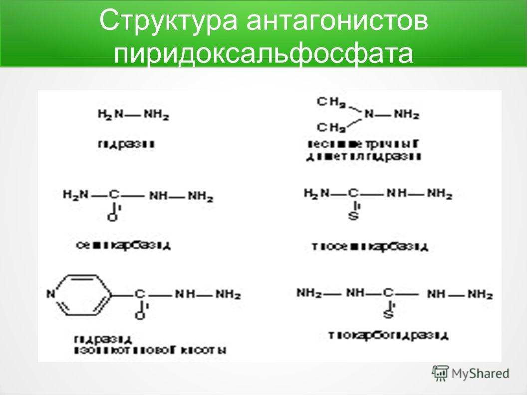 Структура антагонистов пиридоксальфосфата