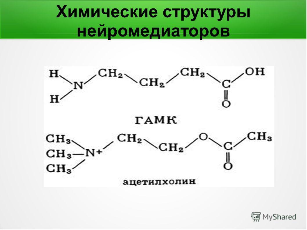 Химические структуры нейромедиаторов