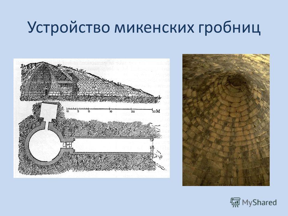 Устройство микенских гробниц