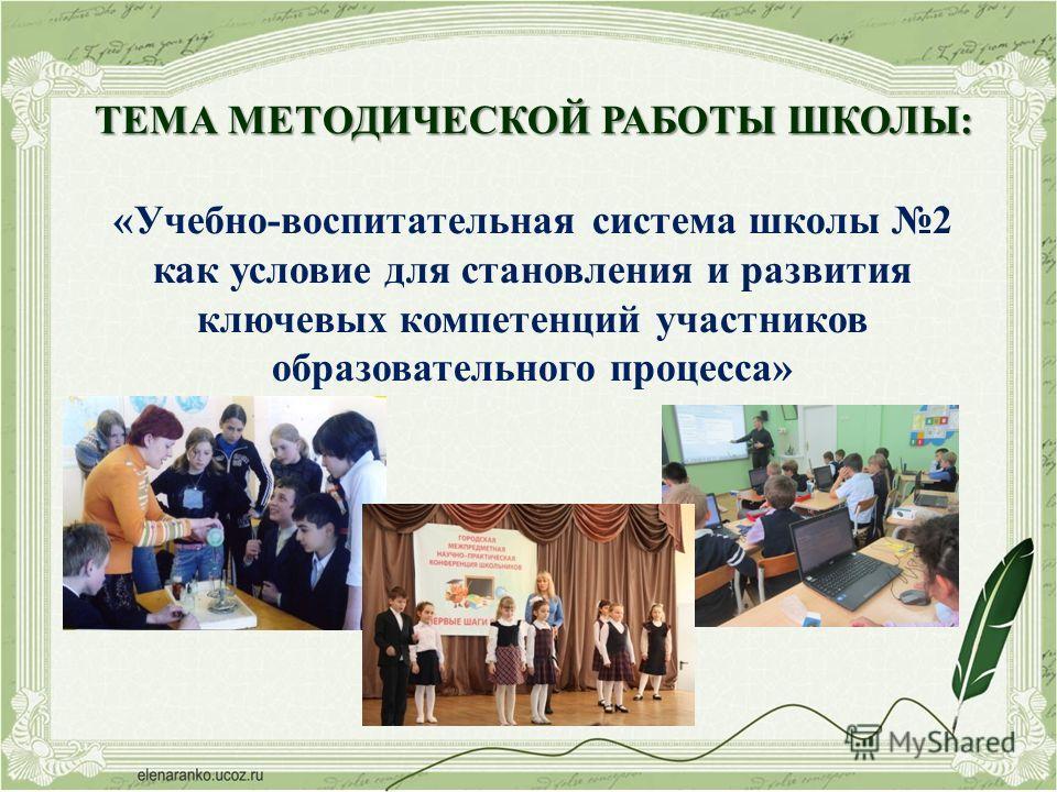 Результаты методической работы в МБОУ СОШ 2 г.Лобня Московской области 2013-2014 учебный год