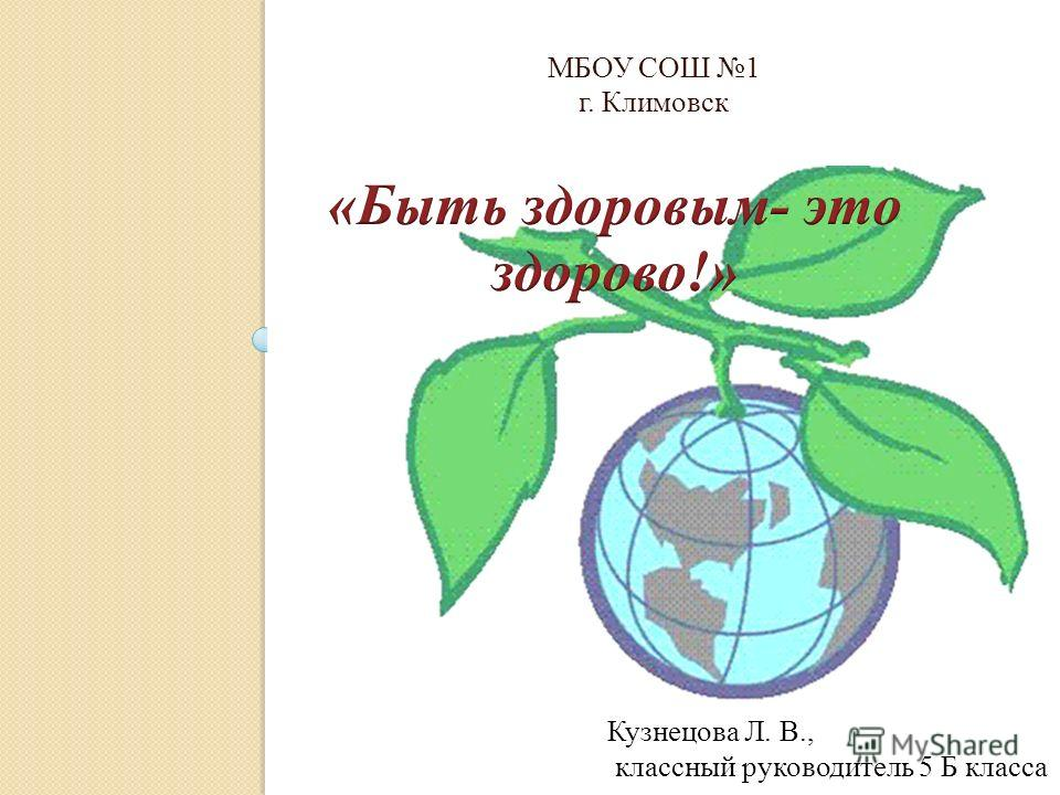 МБОУ СОШ 1 г. Климовск Кузнецова Л. В., классный руководитель 5 Б класса