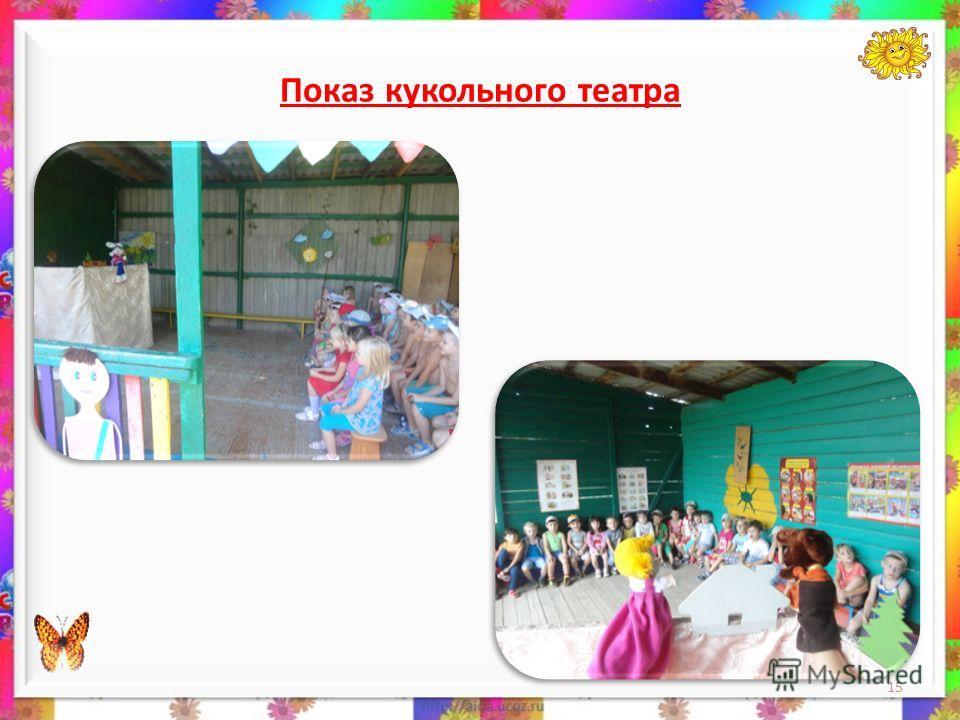 Показ кукольного театра 15