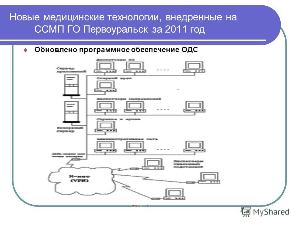 Новые медицинские технологии, внедренные на ССМП ГО Первоуральск за 2011 год Обновлено программное обеспечение ОДС